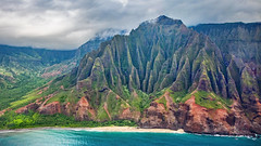_5D39091 (dendrimermeister) Tags: kauai hawaii napali cliff canyon helicopter chopper aerial color landscape scenery
