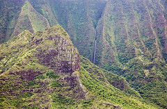 _5D39117 (dendrimermeister) Tags: kauai hawaii napali cliff canyon helicopter chopper aerial color landscape scenery waterfall