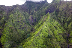 _5D39315 (dendrimermeister) Tags: kauai hawaii napali cliff canyon helicopter chopper aerial color landscape scenery mist cloud waterfall