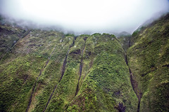 _5D39332 (dendrimermeister) Tags: kauai hawaii napali cliff canyon helicopter chopper aerial color landscape scenery mist cloud