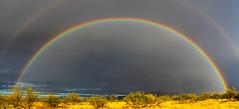 Sonoran rainbow, pano, in Explore (goodrich781) Tags: rainbow sonorandesert santaritamountains az