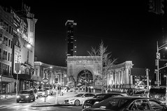City Nights [Explored] (Steve Starer) Tags: blackandwhite chinatown city manhattan manhattanbridge ny nyc newyork newyorkcity newyorkcityphotography newyorkphotography nightphotography places urban night outdoors