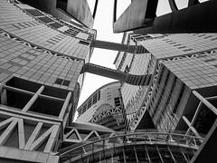 Fusionopolis Buildings 2 (Jack Heald) Tags: fusionopolis singapore building cityscape blackandwhite bw heald jack lines travel sony rx100 rx100m6 rx dscrx100