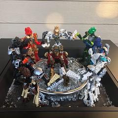 Lhikans Return part II (Armored Toa) Tags: lego bionicle tahu onua pohatu kopaka gali lewa takanuva nuva mega stars revamp moc mmpr kanohi great hau furnace temple sanctuary lhikan