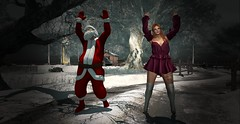 Ringing them Bells with Santa.. (Ms O.T.) Tags: firestorm secondlife sl skull creek funtimes winter christmas silly season secondlife:region=skullcreek secondlife:parcel=winterskullcreekghostbullysmc secondlife:x=193 secondlife:y=146 secondlife:z=22