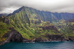 _5D39127 (dendrimermeister) Tags: kauai hawaii napali cliff canyon helicopter chopper aerial color landscape scenery cave