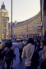 Regent Street (AntyDiluvian) Tags: england greatbritain britain london vintage 1973 1970s westend street regentstreet crescent