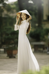 CHOW3493 (Call me CHOW) Tags: happy dress beauty blond female long hair carefree young women wavy fashion model beautiful people portrait ao dai aodai girl hanoi vietnam sunny yearbook smilling smile sunset lookbook pretty posing face