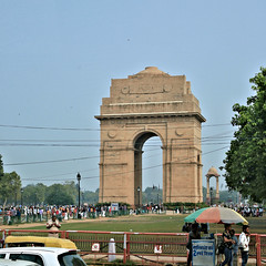 INDIA Gate (Jungle Jack Movements (ferroequinologist) all righ) Tags: india indian gate new delhi sub continent all war memorial kingsway british french britain france first second world united kingdom fight soldier memory statue landmark build building built erected construction architecture architect shape size figure form make manufacture assemble fabricate join structure create production edifice tower skyscraper