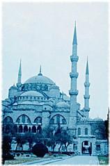 Turkey - Istanbul - Blue Mosque (ottilia dozsa) Tags: turkey torokorszag torony tower istanbul isztambul mosque mecset holyplaces oldphoto scanned ybjig unesco