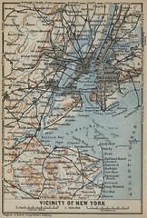 Vicinity of New York City (silicon_press_uk) Tags: map baedeker cityplan streetplan 1909 new york city vicinity