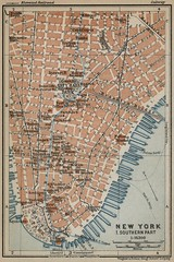 Southern part of New York City (silicon_press_uk) Tags: map baedeker cityplan streetplan 1909 southern new york city