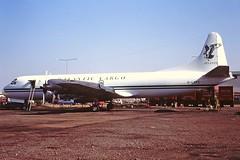 G-LOFC  L. Electra Atlantic cargo Coventry 21-08-95 (cvtperson) Tags: glofc lockheed electra atlantic cargo coventry airport cvt egbe