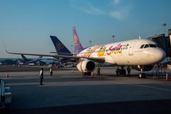 Thai Smile Airbus A320-232 (sharklets); HS-TXQ@BKK;05.12.2019 (Aero Icarus) Tags: bangkoksuvarnabhumiairport bkk bangkok thailand plane avion aircraft flugzeug