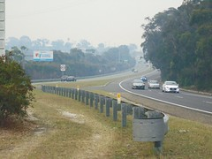 Bushfire drifted smoke over Princes Motorway - Waterfall NSW 5th Dec 2019  (5) (nicephotog) Tags: bushfire smoke haze pollution hazard visibility waterfall nsw fire australia motorway road highway weather