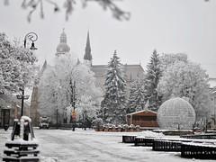 Frozen city of Kosice, Slovakia