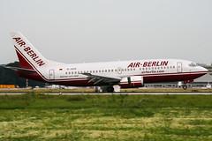 D-ADIF (PlanePixNase) Tags: eddl dus dusseldorf düsseldorf airport aircraft planespotting lohhausen boeing b733 737300 737 airberlin 733