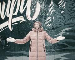 Снег (ebruskov) Tags: beautiful city citystreet cityscape gerls life novosibirsk pedestrian people russia siberia sidewalk snow street streetlife streetphotography townscape winter