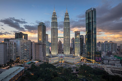 The Twins | SE Asia 2019 (James Kerwin Photographic) Tags: canon composition jameskerwin fineart imagery landscape photography petronas towers kl kuala lumpur malaysia details stock cityscape night shots long exposure exposures lights blue hour golden sunset se asia architecture gardens twins city southern winter 2019 travel tourism capital heat