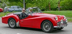 1971 Triumph TR3 (Gösta Knochenhauer) Tags: 2016 may stockholm sverige sweden capital djurgården gärdesloppet prins bertil memorial car veteran panasonic lumix fz1000 dmcfz1000 p9040498nik p9040498 nik schweden suède svezia suecia leica lens