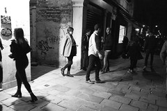 Venice nightlife, 8.47pm-9.50pm 18th October 2019 (fabiolug) Tags: nightlife night venice venezia italy italia darkness light shadow shadows people street streetphotography walking leicammonochrom mmonochrom monochrom leicamonochrom leica leicam rangefinder blackandwhite blackwhite bw monochrome biancoenero leicaelmarit28mmf28asph elmarit28mmf28asph elmarit28mm leicaelmarit28mm 28mm elmarit leicaelmarit wide wideangle cannareggio