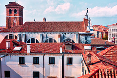 Chiesa di San Stae from the side (khrawlings) Tags: chiesadisanstae side tower red roof tiles venice italy capesaro building church windows