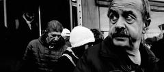 I always feel like somebody's watching me... (Baz 120) Tags: street city rome contrast candid strangers streetportrait streetphoto candidportrait streetcandid candidstreet life portrait people urban blackandwhite bw italy roma monochrome mono women europe noiretblanc monotone provoke ricohgrii italia faces decisivemoment grittystreetphotography