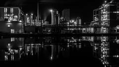 Bruges, industrial landscape (dannybrock69) Tags: bruges monochrome industrial landscape night factory