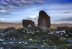 Near the Arctic Circle - 1977 (hermann.kl) Tags: norwegen norway scan kodachrome 1977 felsen rocks wolken clouds