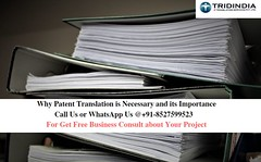 Why Patent Translation is Necessary and its ImportanceThere is many facts exist about patent translation today you will know that and also know what is its importance. (uglwstuj39) Tags: high grade patent translation services delhi