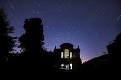 Star-trail-raquets court (Peter Warne-Epping Forest) Tags: stars startrails peterwarne coppedhall nightphotography nightsky polestar historicbuilding