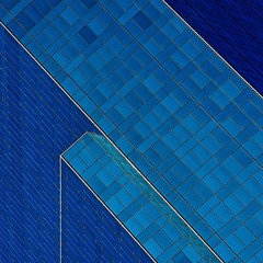 Abstract Architecture (2n2907) Tags: abstract architecture glass office building windows skyscraper graphic geometric geometry pattern lines triangles blue square
