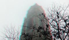 Laurenstoren Rotterdam in mist 3D (wim hoppenbrouwers) Tags: anaglyph stereo redcyan laurenstoren rotterdam mist 3d fog foggy mistig toren touwer