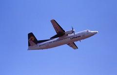 D-AFKD Fokker 50 Lufthansa BHX 22-08-95 (cvtperson) Tags: dakfd fokker 50 lufthansa birmingham bhx egbb