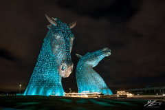 Scottish Gods (TVZ Photography) Tags: kelpies helix park sculpture art horses equine falkirk scotland architecture sky night evening lowlight longexposure sonya7riii zeiss loxia 21mm
