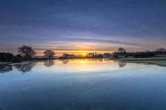 Icy Mogshade Sunrise (nicklucas2) Tags: cloud cold pond water sunrise sun sunburst landscape newforest hampshire mogshade tree