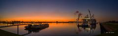 Europoort (Peet de Rouw) Tags: europoort calandcanal sunset sscvthialf bunkerboot bunkerbarges 7epetroleumhaven thialf heerema evening panorama hasselblad