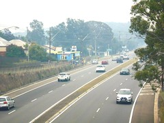 Bushfire drifted smoke over Princes Motorway - Waterfall NSW 5th Dec 2019  (2) (attr-shr)) (nicephotog) Tags: bushfire smoke haze pollution hazard visibility waterfall nsw fire australia motorway road highway weather