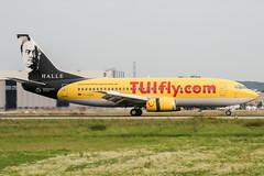 D-AGEE (PlanePixNase) Tags: eddl dus dusseldorf düsseldorf airport aircraft planespotting lohhausen hapaglloyd express hlx boeing 737 737300 b733 leipzig halle händel bach 733
