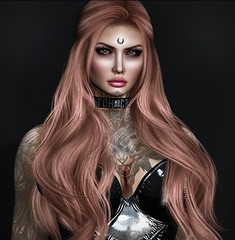 Portrait (Ginger Krokus) Tags: gingersnaps gingerkrokus secondlife sl fashion clothing styling stealthic lelutka dappa spookshow cureless photo photography portrait hair mesh tattoo ink inked girl woman female sexy virtual virtualworld digital photographer photoshop