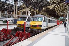 GA 90011 + 90002 London Liverpool St (daveymills37886) Tags: ga 90011 90002 london liverpool st class 90 skoda greater anglia