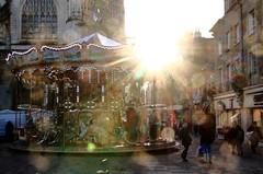 Eclats de Carrousel ! (Tonton Gilles) Tags: alençon normandie grande rue place lamagdelaine soleil rayons flare poussières carrousel église basilique notredame dalençon scène de personnages