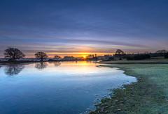 Icy Sunrise (nicklucas2) Tags: cloud cold pond water sunrise sun sunburst landscape newforest hampshire mogshade tree