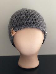 Messy Bun Hat (LoveLifeGifts) Tags: messy bun beanies hat crochet gray black warm ski snowboarding winter womens womans ponytail pony tail messybunbeanie messybunhat