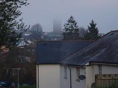 Head in the clouds (Phil Gayton) Tags: building tree cloud mist stmarys church totnes devon uk
