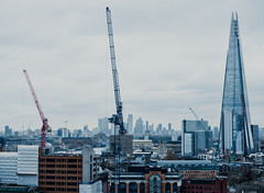 Neptune takes the City (Just Ron ;)) Tags: theshard canarywharf imageron nikon london cityscape travel