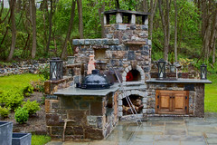 Where good things happen! (Paul. (mp13 nhnc)) Tags: breadandpizzaoven woodfiredoven stonework pizza bread oven primogrillsmoker