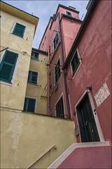 looking up ! (miriam ulivi - OFF/ON) Tags: miriamulivi nikond7200 italia liguria sestrilevante case houses colours