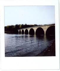 Klamerbrücke (danielderschlosser) Tags: instax square sp6 klamerbrücke polaroid versetalsperre