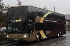 50313 working 1310 Glasgow Buchanan-Inverness G10 at Perth Broxden (Railway transport photography) Tags: vanhool megabusgold g10 megabus citylink busesinperth citylinkgold yj64aur 50313
